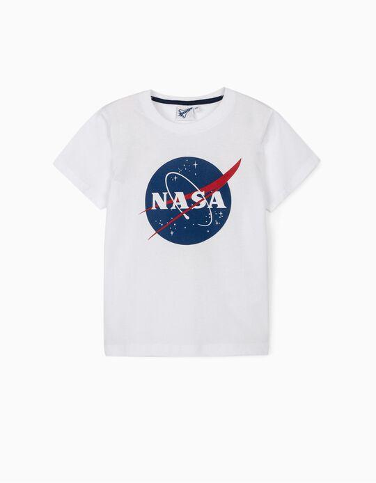 T-shirt para Menino 'NASA', Branco