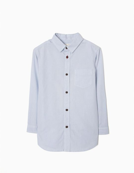 Camisa para Niño a Rayas, Azul