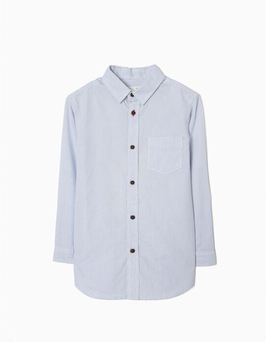 Camisa para Menino Riscas, Azul