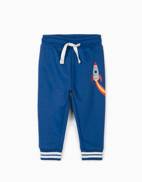 Pantalon de sport bébé garçon 'Rocket', bleu
