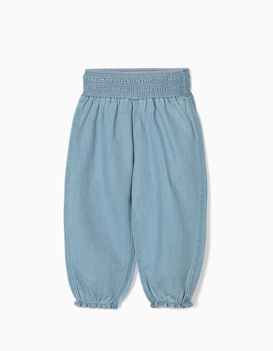 Trousers for Baby Girls, 'Comfort Denim', Light Blue