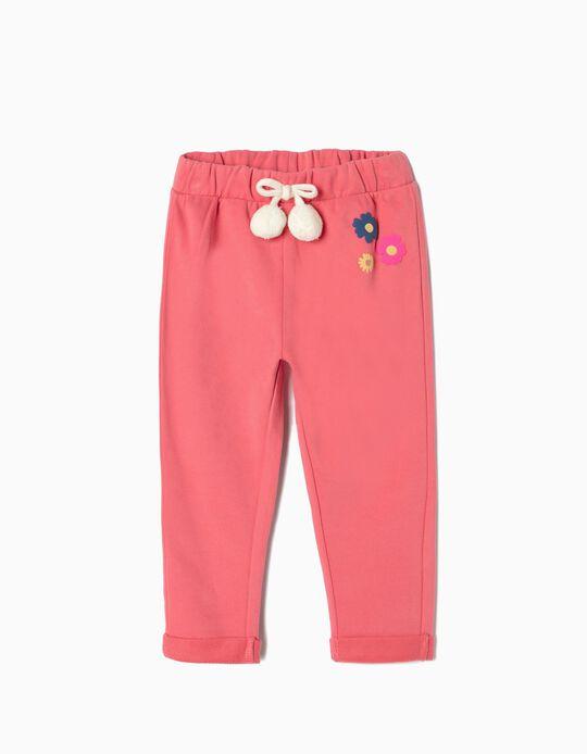 Pantalón de Chándal para Bebé Niña 'Pompones', Rosa