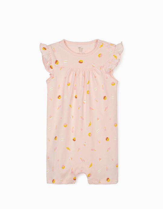 Sleepsuit for Baby Girls, 'Sweets', Pink