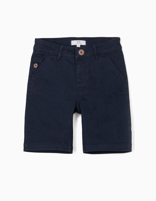 Chino Shorts for Boys, Dark Blue