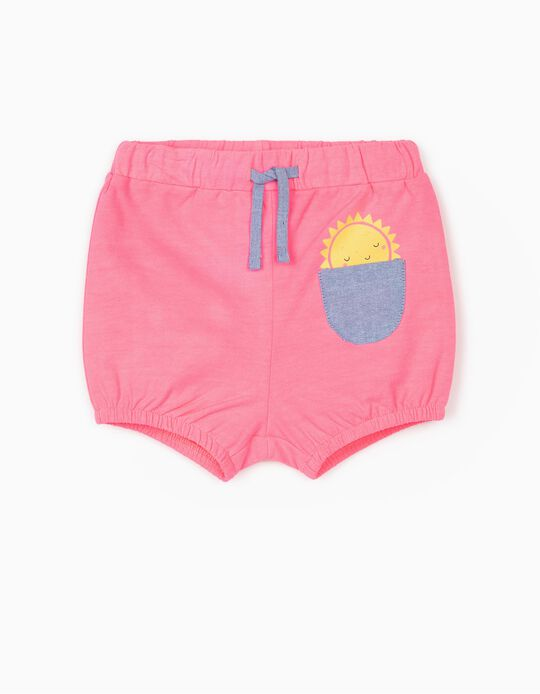 Shorts for Baby Girls 'Sun', Pink