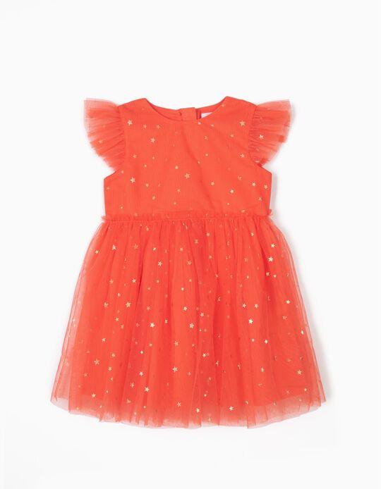 Vestido de Tul para Bebé Niña, Coral