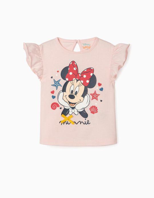 T-shirt nouveau-née 'Minnie Sea', rose clair