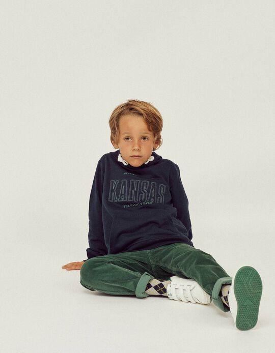 Pantalón de Pana para Niño, Verde