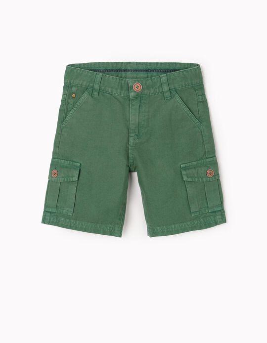 Calções Cargo para Menino, Verde
