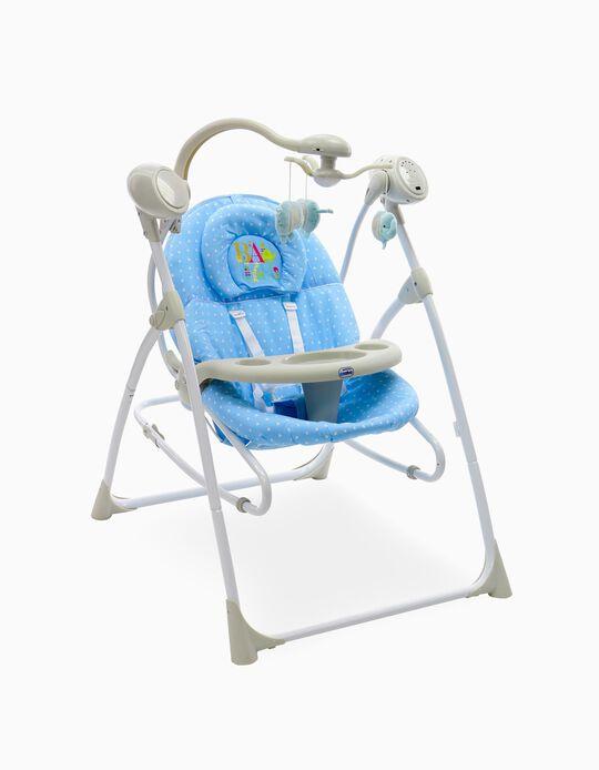 Cadeira De Repouso Columpio 3  In 1 Asalvo Hamaquita Celeste