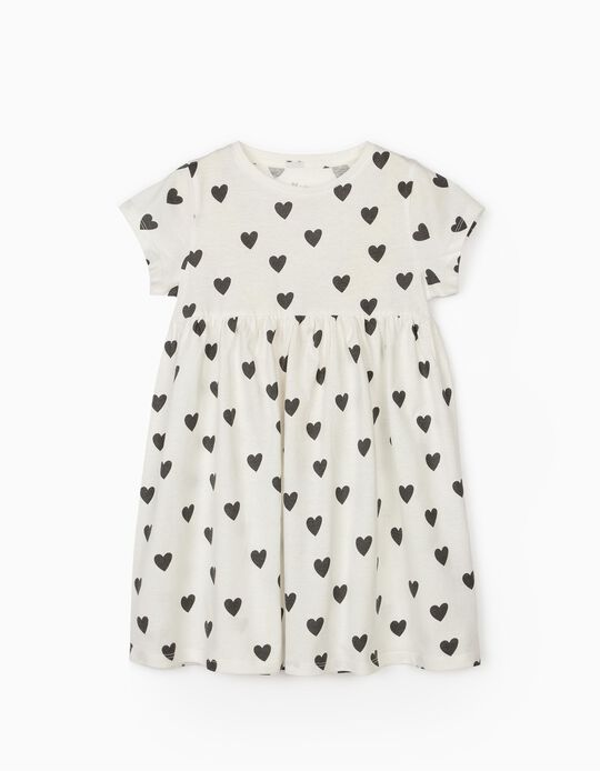 Robe jersey fille 'Hearts', blanc