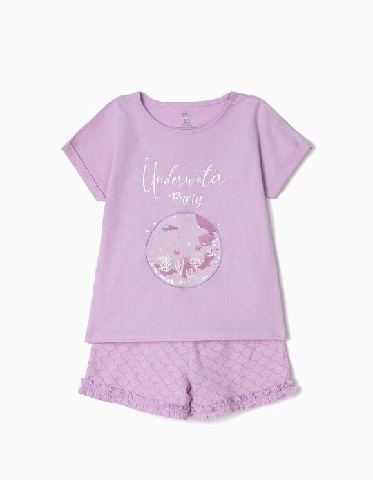 Pijama para Niña 'Underwater Party', Lila