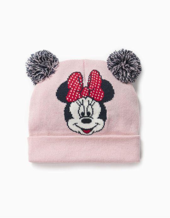 Gorro de Punto para Bebé Niña 'Minnie', Rosa