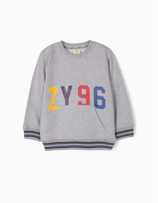 Sweatshirt para Menino 'ZY 96', Cinza