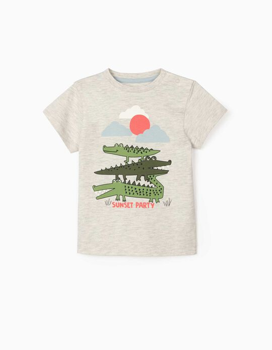 T-shirt for Baby Boys, 'Sunset Party', Marl Grey