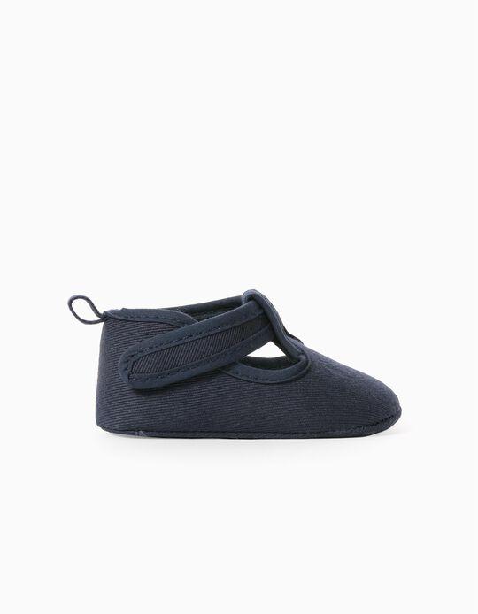 Shoes for Newborn Baby Boys, Dark Blue