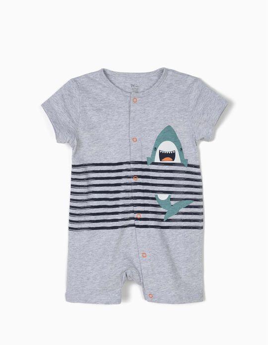 Pelele para Bebé Niño 'Shark', Gris