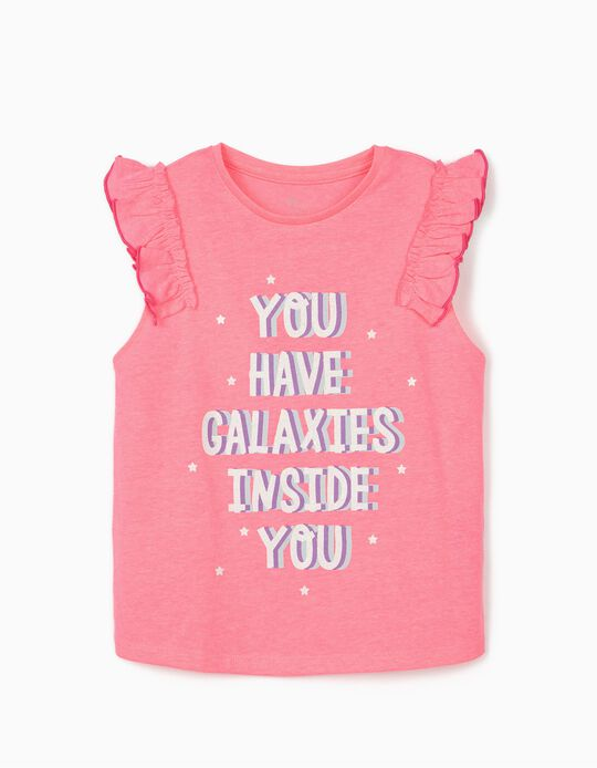Sleeveless T-shirt for Girls 'Galaxies', Pink