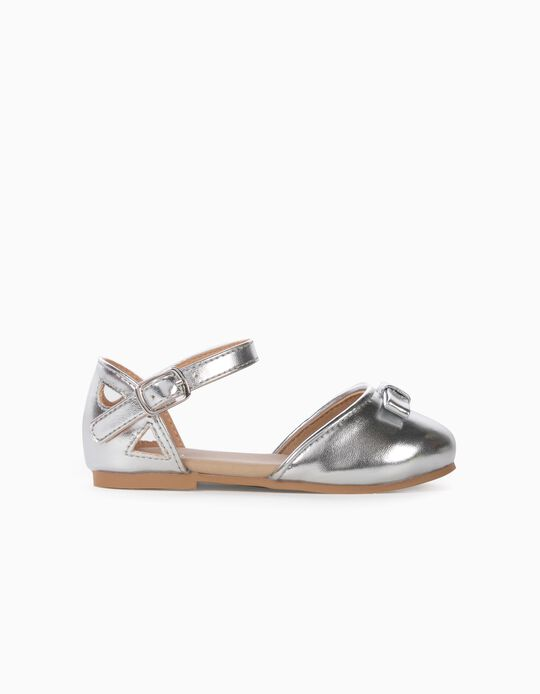 Ballet Pumps for Baby Girls, Silver