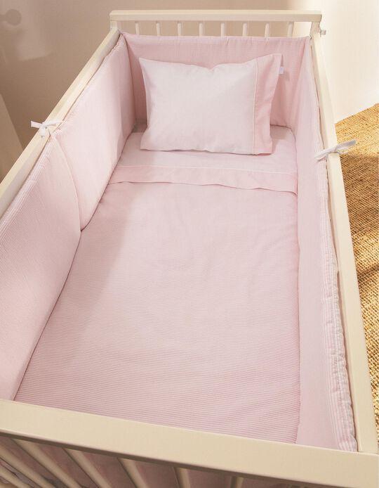 Resguardo De Cama Essential Pink Zy Baby 360