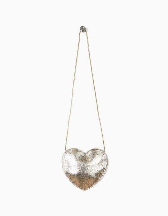 Bolsa a Tiracolo para Menina 'Heart', Dourado