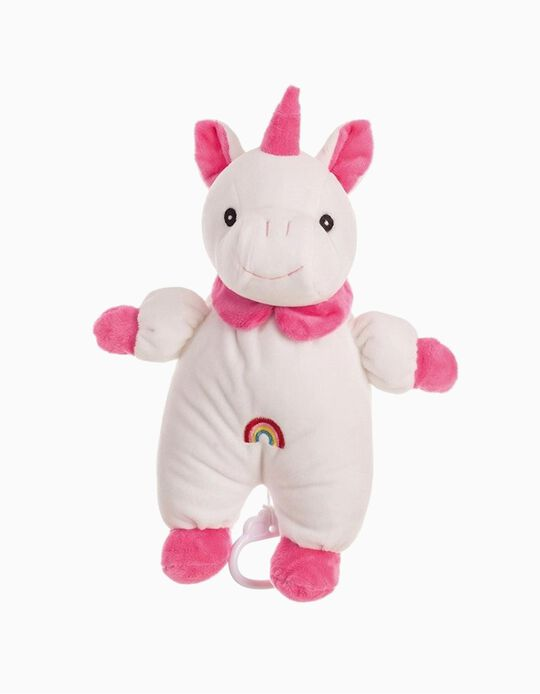 Peluche musicale 28Cm Licorne Rose Little Kids