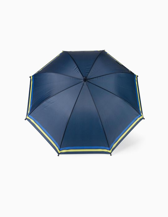 Umbrella for Boys, 'Stripes', Dark Blue