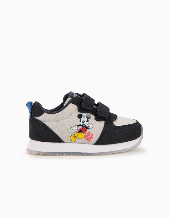 Zapatillas para Bebé Niño 'Mickey Basketball', Azul y Gris