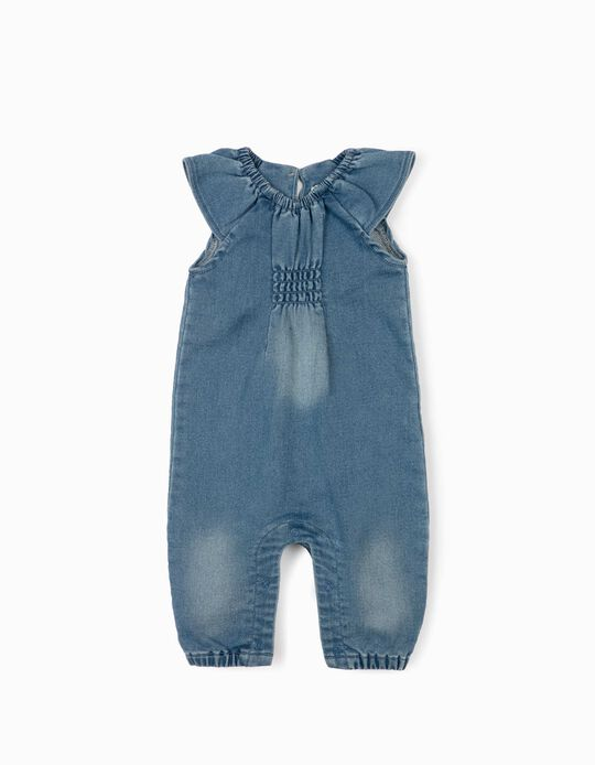 Denim Jumpsuit for Newborn Baby Girls, Blue