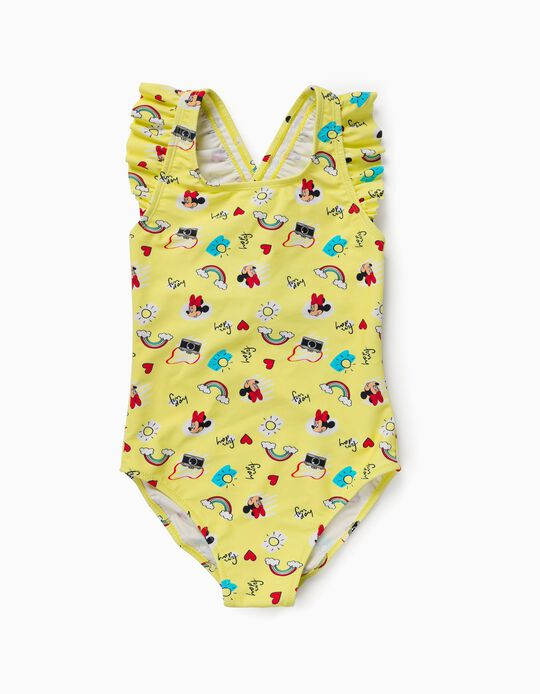 Swimsuit for Girls, 'Minnie Mouse', Yellow