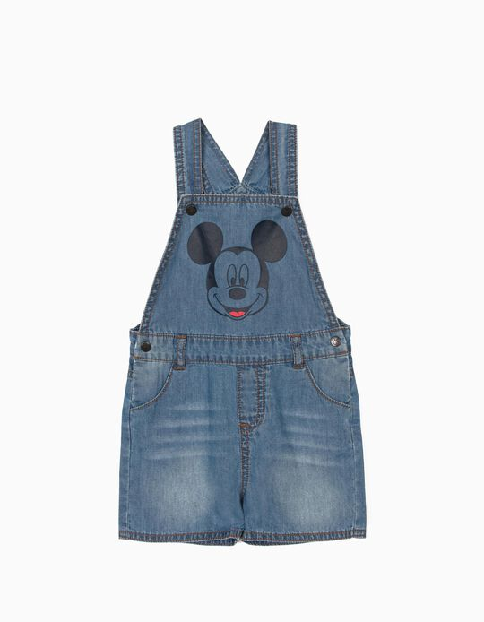 Short Dungarees for Baby Boys, 'Mickey Mouse', Blue