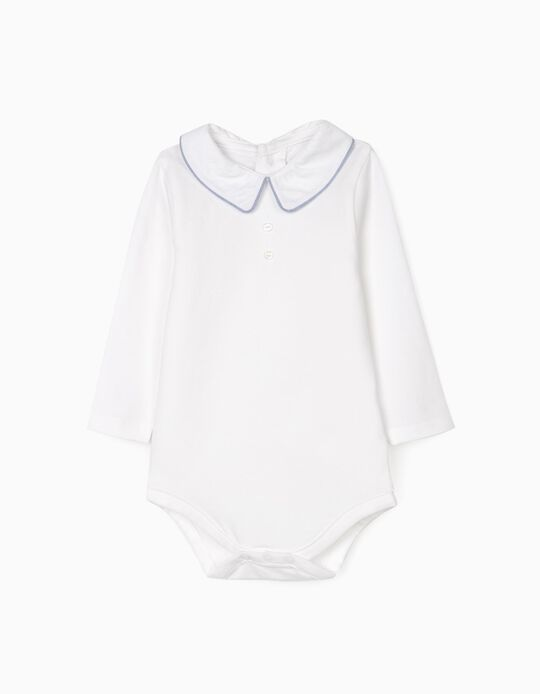 Bodysuit for Newborn Baby Boys 'B & S', White