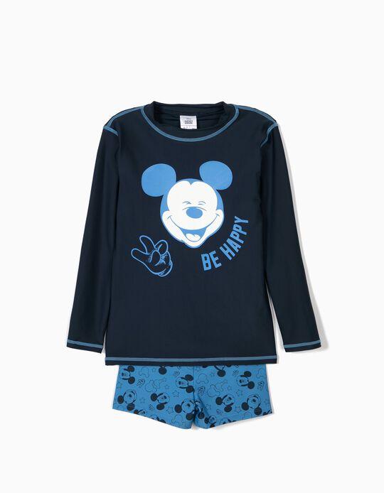 Conjunto de Baño para Niño 'Mickey' Antirrayos UV 80, Azul