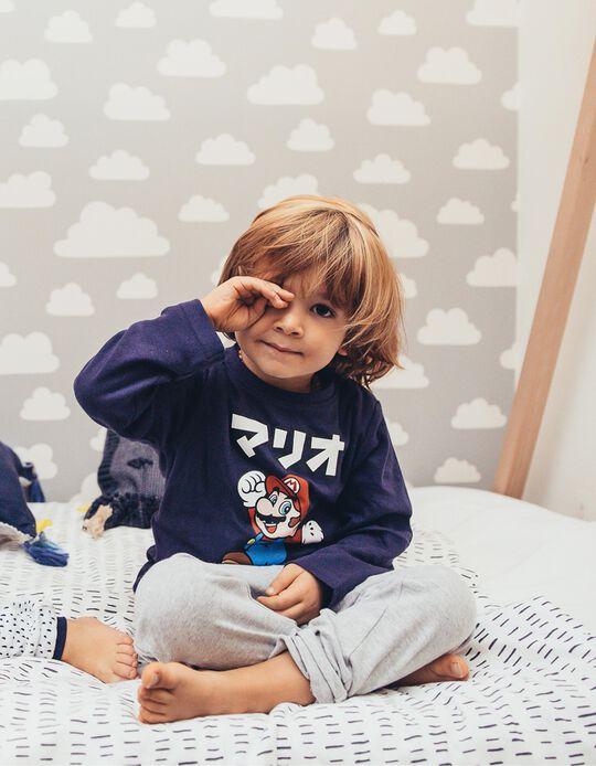 Pijama Manga Comprida e Calças Super Mario