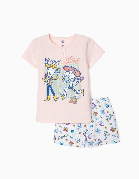 Pyjamas for Girls, 'Toy Story', Pink/White