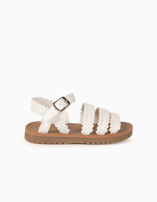 Sandales bébé fille, blanc