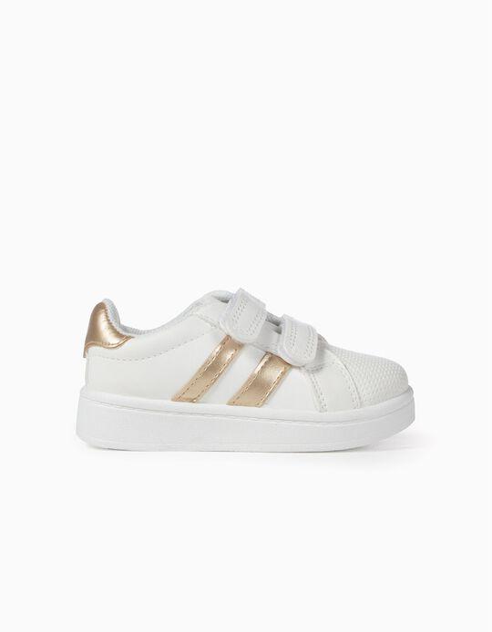 Zapatillas para Bebé 'ZY', Blanco y Dorado