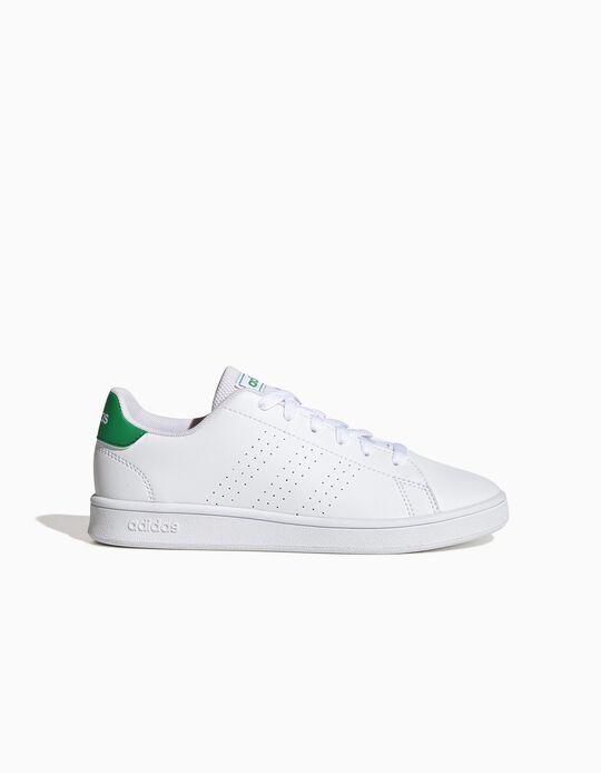 Sapatilhas 'Adidas Advantage', Branco/Verde