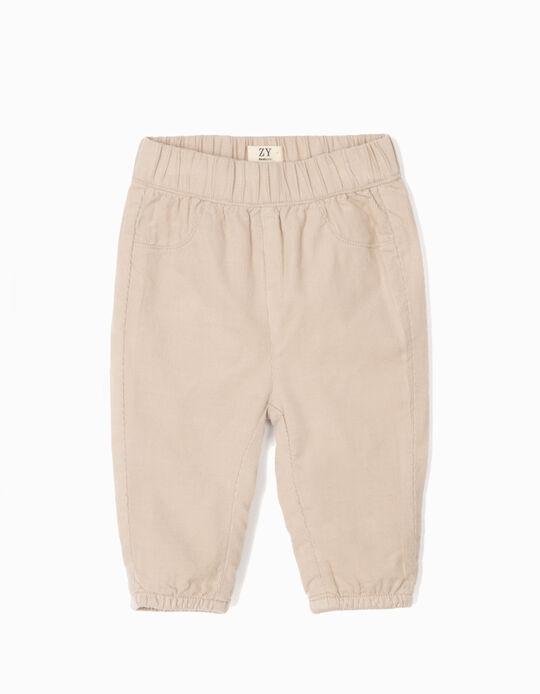 Pantalón de Pana para Recién Nacido, Beige