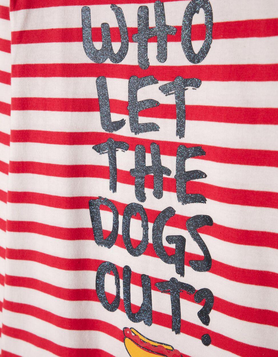 T-shirt Manga Comprida Riscas Hot Dog