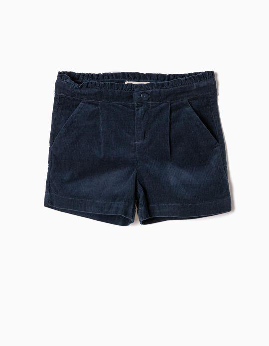 Short de Pana Azul