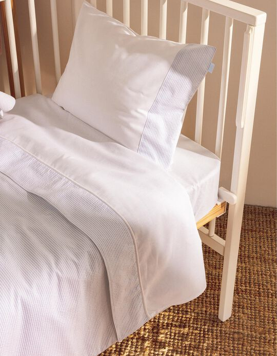 Bedding Set 120X60Cm Essential Blue Zy Baby