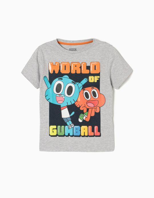 T-shirt Gumball Cinzenta