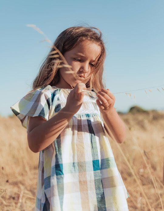 Blusa Ajedrez para Niña 'B&S', Multicolor