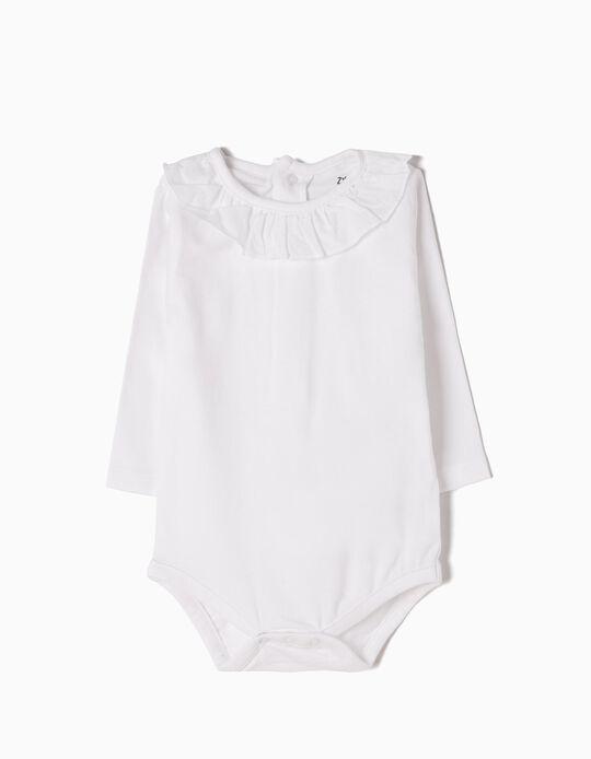 Body Manches Longues Nouveau-née, Blanc