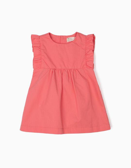 Vestido para Recém-Nascida com Tapa-Fraldas, Rosa