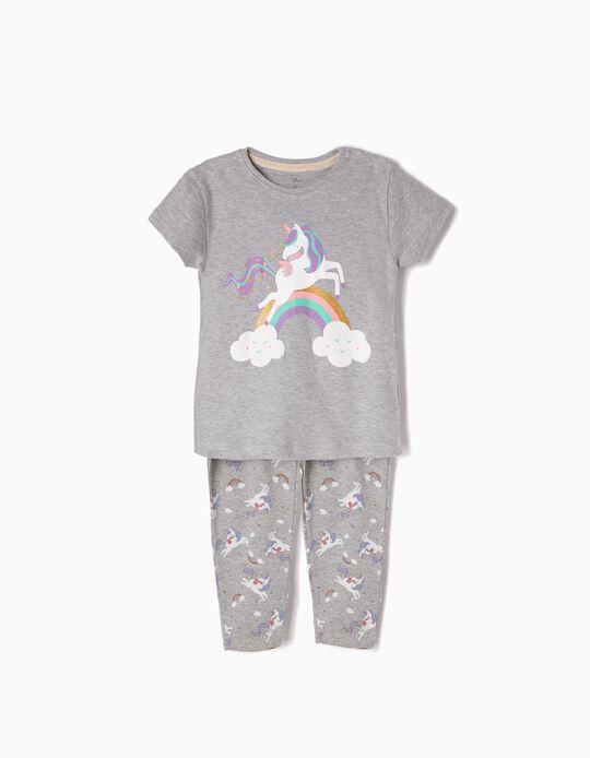 Pijama de Manga Corta y Pantalón de Unicorn