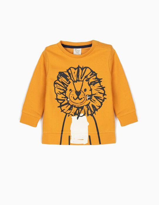 Sweatshirt para Bebé Menino 'Lion', Amarelo Torrado