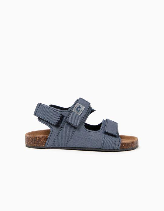 Sandálias para Menino com Velcro, Azul