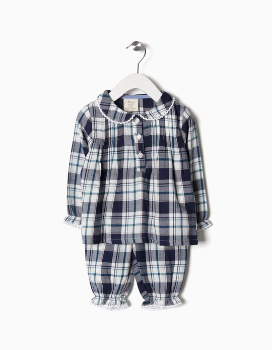 Pijama Xadrez Bebé Menina